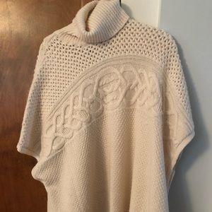 Lauren Ralph Lauren fisherman style poncho sweater